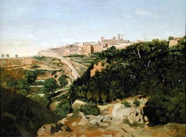 Volterra, 1834 by Corot | Painting Reproduction