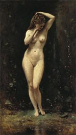 Diana Bathing - The Fountain, c.1869/70 by Corot | Painting Reproduction