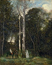 The Parc des Lions at Port-Marly | Corot | Painting Reproduction
