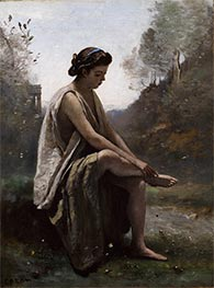 The Wounded Eurydice, c.1868/70 by Corot | Painting Reproduction