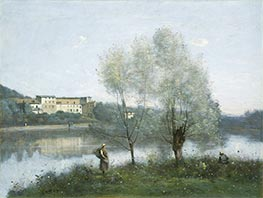 Ville-d'Avray, c.1865 by Corot | Painting Reproduction