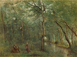 The Eel Gatherers, c.1860/65 by Corot | Painting Reproduction