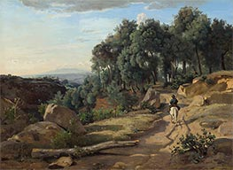 A View near Volterra | Corot | Painting Reproduction