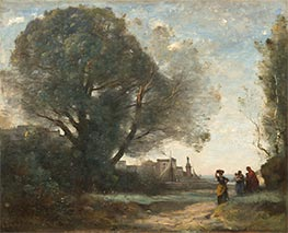 Souvenir of Terracina, 1864 by Corot | Painting Reproduction