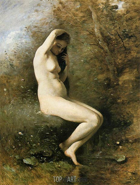 Venus at Her Bath, c.1873/74 | Corot | Painting Reproduction