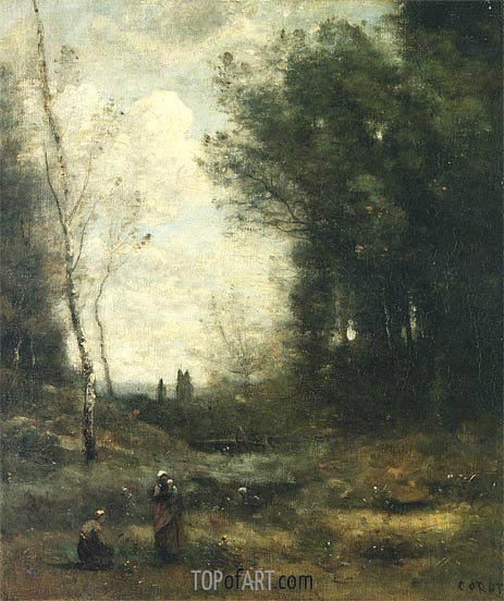 The Valley, 1871 | Corot | Gemälde Reproduktion