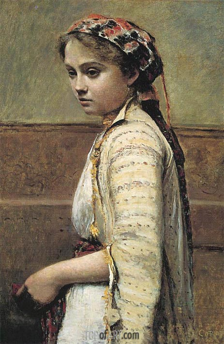 The Greek Girl, c.1870/73 | Corot | Painting Reproduction