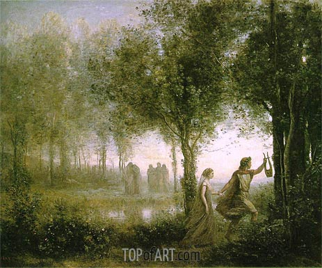 Orpheus Leading Eurydice from the Underworld, 1861 | Corot | Painting Reproduction
