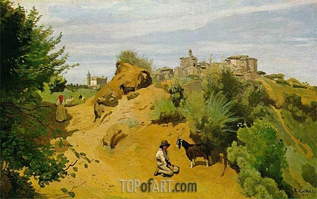 The Goat-Herd of Genzano, 1843 | Corot | Painting Reproduction