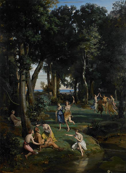 Silenus, 1838   Corot   Painting Reproduction