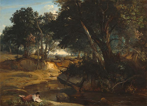 Forest of Fontainebleau, 1834 | Corot | Painting Reproduction