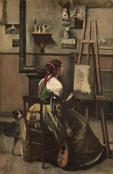The Artist's Studio, c.1868 | Corot | Painting Reproduction