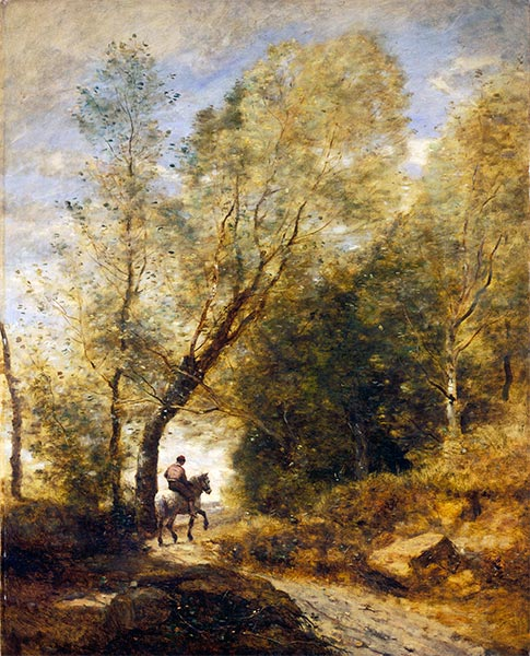 The Forest of Coubron, 1872 | Corot | Painting Reproduction
