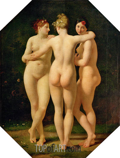 The Three Graces, 1793 | Baron Jean Baptiste Regnault | Painting Reproduction