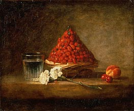 Basket of Wild Strawberries, 1761 by Chardin | Painting Reproduction