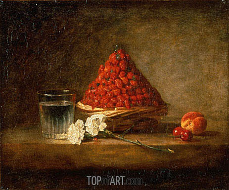 Basket of Wild Strawberries, 1761 | Chardin | Painting Reproduction