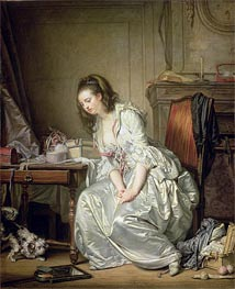 The Broken Mirror | Jean-Baptiste Greuze | Painting Reproduction