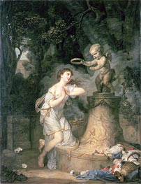 Votive Offering to Cupid, 1767 von Jean-Baptiste Greuze | Gemälde-Reproduktion