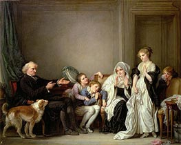 The Widow and Her Priest, undated von Jean-Baptiste Greuze | Gemälde-Reproduktion