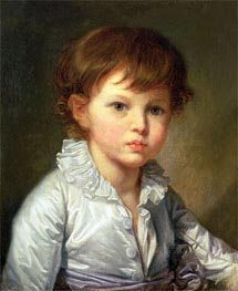 Portrait of Count Pavel Stroganov as A Child, 1778 von Jean-Baptiste Greuze | Gemälde-Reproduktion