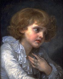 Head of a Young Boy (Tete d'un Garcon), undated by Jean-Baptiste Greuze | Painting Reproduction