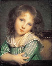 Girl at the Window, undated von Jean-Baptiste Greuze | Gemälde-Reproduktion