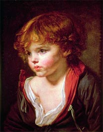 A Blond Haired Boy with an Open Shirt, c.1760 by Jean-Baptiste Greuze | Painting Reproduction