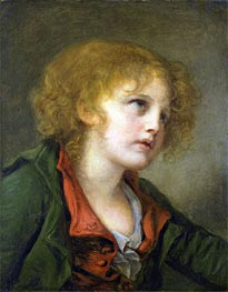 Portrait of a Young Boy, undated by Jean-Baptiste Greuze | Painting Reproduction