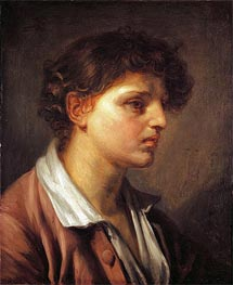 Portrait of a Young Man, undated by Jean-Baptiste Greuze | Painting Reproduction