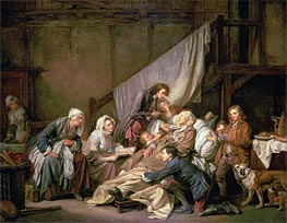 The Paralytic (Filial Piety) | Jean-Baptiste Greuze | Painting Reproduction