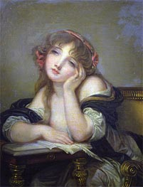 The Letter Writer, c.1800/06 by Jean-Baptiste Greuze | Painting Reproduction
