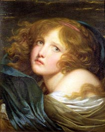 Young Girl, undated by Jean-Baptiste Greuze | Painting Reproduction