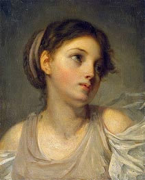 Young Girl in a Lilac Tunic | Jean-Baptiste Greuze | Painting Reproduction