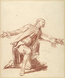 A Kneeling Youth with Outstreched Hand, undated von Jean-Baptiste Greuze | Gemälde-Reproduktion