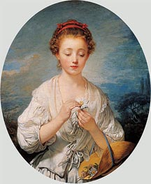 Simplicity | Jean-Baptiste Greuze | Painting Reproduction