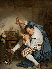 The Guitarist | Jean-Baptiste Greuze | Painting Reproduction