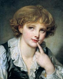 Head of a Boy | Jean-Baptiste Greuze | Painting Reproduction