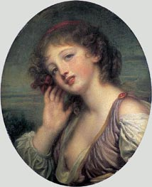 The Listening Girl, c.1780/90 von Jean-Baptiste Greuze | Gemälde-Reproduktion