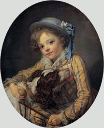 Boy with a Dog | Jean-Baptiste Greuze | Painting Reproduction