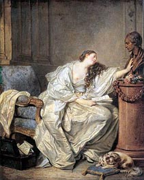 The Inconsolable Widow, c.1762/63 by Jean-Baptiste Greuze | Painting Reproduction