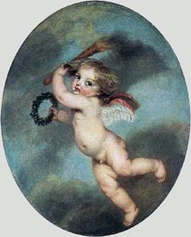 Flying Cupid with a Torch | Jean-Baptiste Greuze | Painting Reproduction