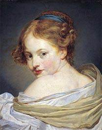Portrait of a Young Woman | Jean-Baptiste Greuze | Painting Reproduction