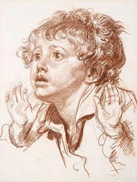 Head of a Startled Boy | Jean-Baptiste Greuze | Painting Reproduction