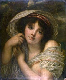 A Girl, undated by Jean-Baptiste Greuze | Painting Reproduction