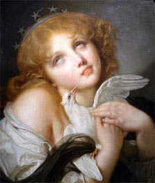 Voluptuousness (Girl with Dove), 1790 by Jean-Baptiste Greuze | Painting Reproduction