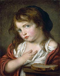 Little Girl Pouting, c.1775/00 by Jean-Baptiste Greuze | Painting Reproduction