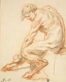 Study of a Faun, b.1755 by Jean-Baptiste Greuze | Painting Reproduction