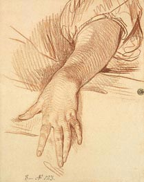 Study of a Female Arm Dropped Down, 1765 by Jean-Baptiste Greuze | Painting Reproduction