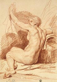 Study of a Nymph, b.1755 by Jean-Baptiste Greuze | Painting Reproduction