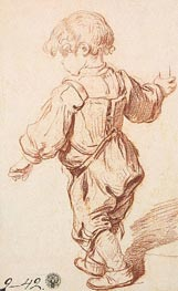 Study of a Boy Walking | Jean-Baptiste Greuze | Gemälde Reproduktion